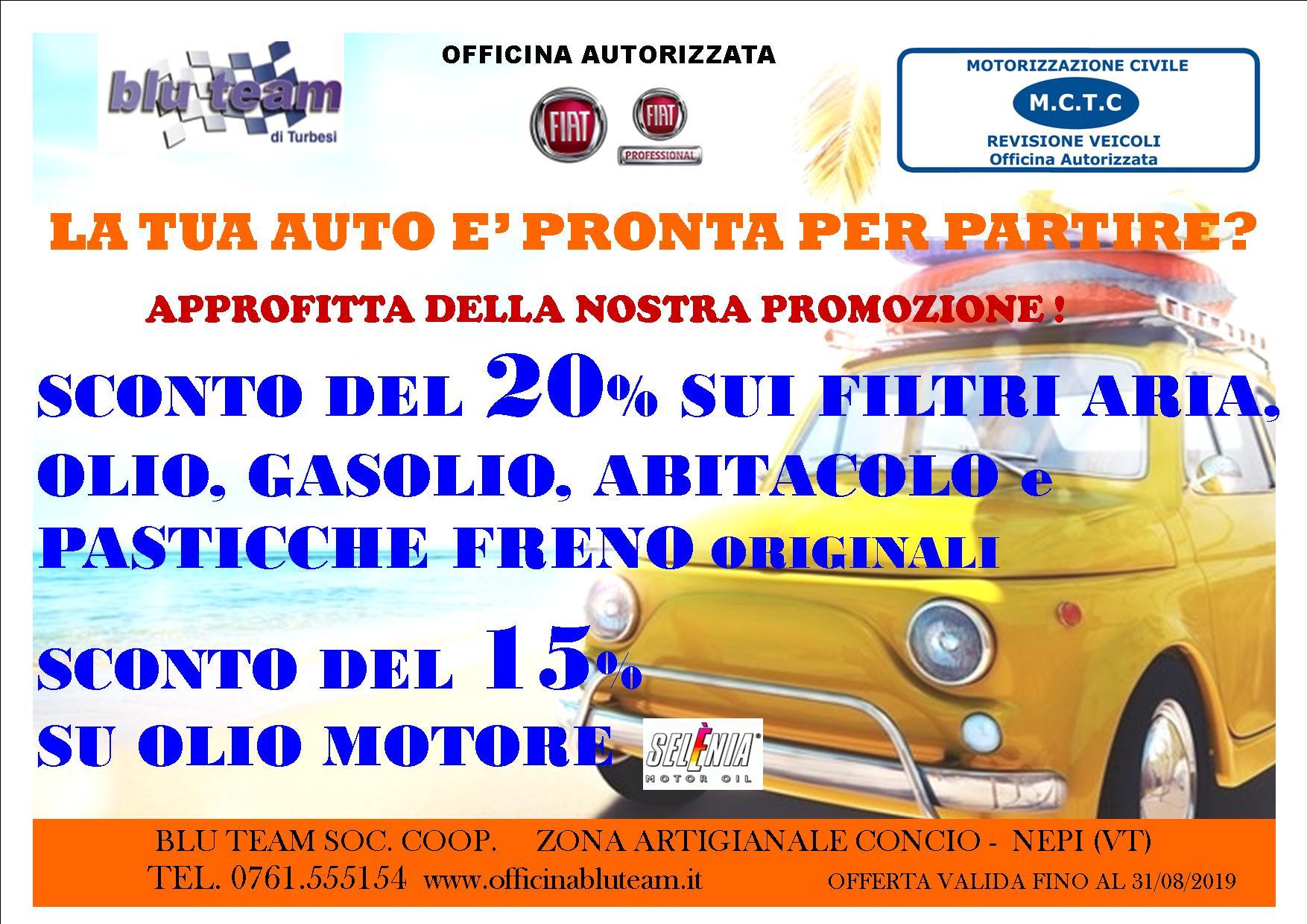 Promo estate Blu Team - Turbesi Nepi